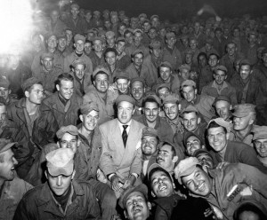 Bob Hope entertains Marines