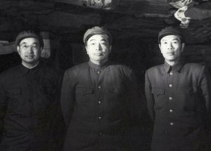 Peng Duhuai (center) and two of his generals