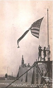 American flag being raised over Vera Cruz
