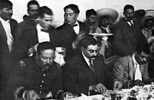 Pancho Villa, Eulalio Gutierrez and Emiliano Zapata