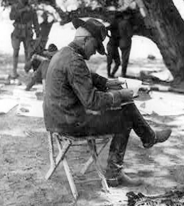 General Pershing sitting