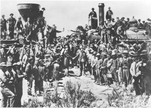 1869 Golden Spike-dodge-montague shake hands